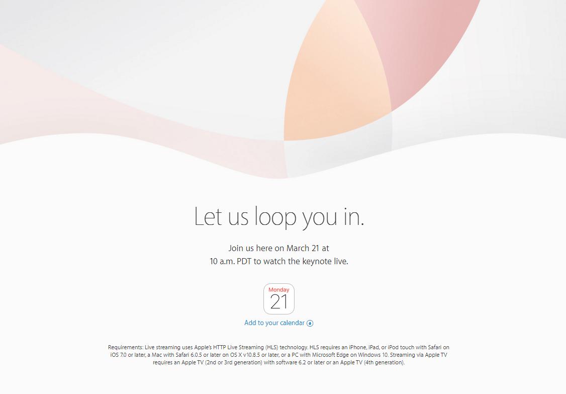 iPhone SE遂に登場!?Appleが日本時間3月22日午前2時から発表イベント開催決定!