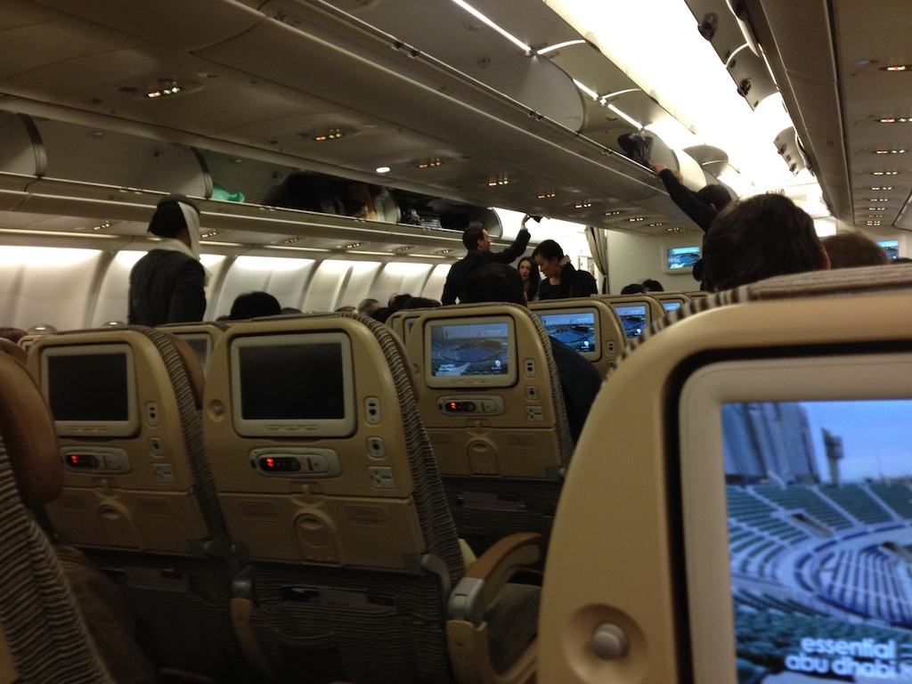 エティハド航空の「名古屋便」を利用する時の注意!エコノミークラス利用時は座席選びが特に重要!!可能ならビジネスクラスへのアップグレードの視野に?